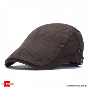 Adjustable Cotton Caps Retro Causal Outdoor Beret Hat - Coffee