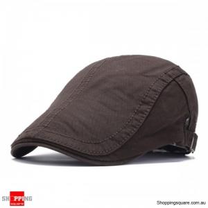 Adjustable Cotton Caps Retro Causal Outdoor Beret Hat - Coffee
