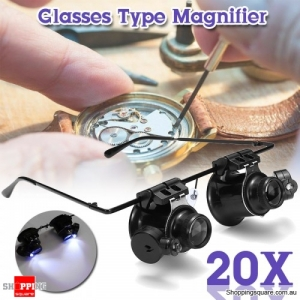 20X Magnifier Magnifying LED Eye Glass Loupe Lens Jeweler Watch Repair Tool