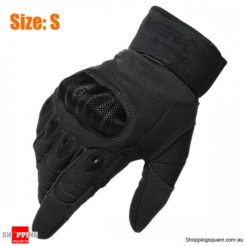 Tactical Military Motorcycle Bicycle Bike Airsoft Hunting Full Finger Protective Gloves Size: S
