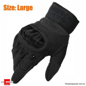 Tactical Military Motorcycle Bicycle Bike Airsoft Hunting Full Finger Protective Gloves Size: L
