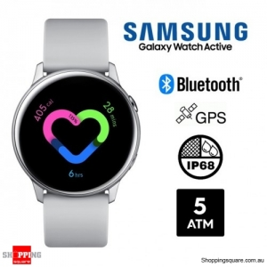 Samsung Galaxy Watch Active R500 Bluetooth Smart Watch Silver