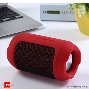 Portable Wireless Bluetooth Speaker Hands free Waterproof Outdoors Speaker - Red