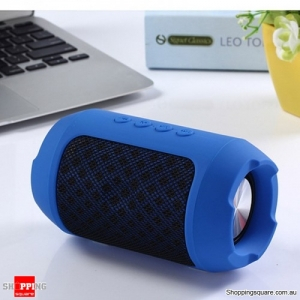 Portable Wireless Bluetooth Speaker Hands free Waterproof Outdoors Speaker - Blue