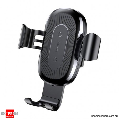 Baseus Car Mount Qi Wireless Quick Charging Pad Holder Black Colour