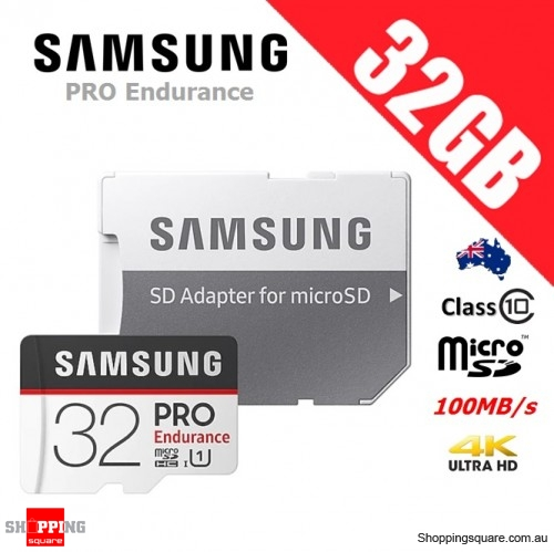Samsung Pro Endurance 32GB micro SDHC Memory Card 100MB/s + Adapter