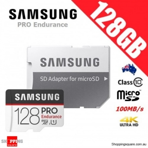 Samsung Pro Endurance 128GB microSDXC Memory Card 100MB/s + Adapter