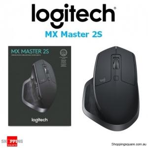 Logitech MX Master 2S Optical Ergonomic Wireless Mouse Graphite PC Laptop
