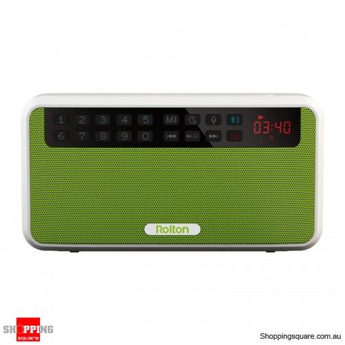 Portable Mini Wireless Bluetooth Speaker 1500mAh FM Radio Hands-free Speaker - Green