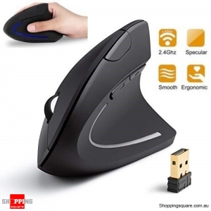 2.4G Wireless Rechargeable Vertical Ergonomic 800/1200/1600DPI Optical Mouse for PC Mac