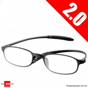 Ultralight Unbreakable Resin Best Reading Glasses Pressure Reduce Magnifying - 2.0