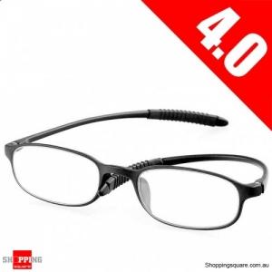 Ultralight Unbreakable Resin Best Reading Glasses Pressure Reduce Magnifying - 4.0