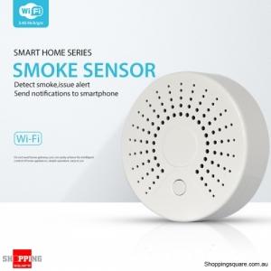 WiFi Wireless Smart Smoke Detector Security Alarm Battery Operated Sensor System