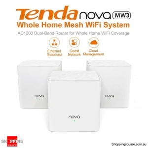Tenda Nova MW3 AC1200 Whole Home Mesh WiFi System Router White (Pack of 3)
