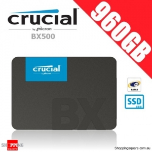 "Crucial BX500 960GB 3D NAND SATA 2.5"" SSD Solid State Drive"