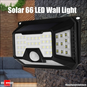 Solar Waterproof 3.5W 66LED Solar Light PIR Motion Sensor Wall Lamp for Outdoor Garden