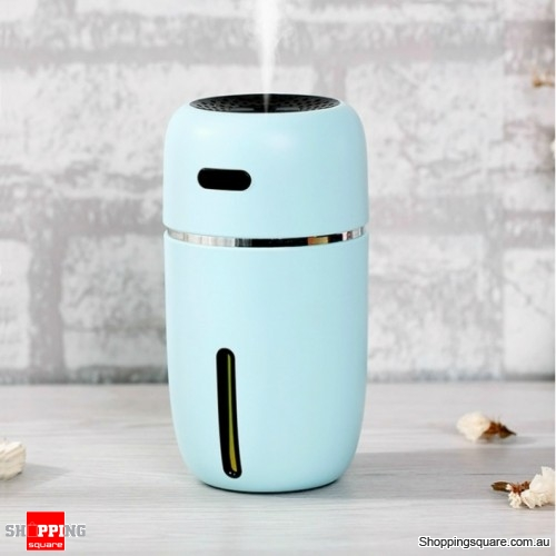 USB Portable Humidifier Air Purifier Freshener Diffuser For Office Car Room - Blue