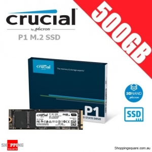 Crucial P1 500GB 3D NAND NVMe PCIe M.2 SSD Solid State Drive