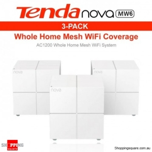 Tenda Nova MW6 AC1200 Whole Home Mesh WiFi System Router White (Pack of 3)