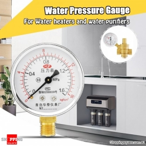 0-16MPa Water Pressure Gauge Meter For Water Heaters and Purifiers