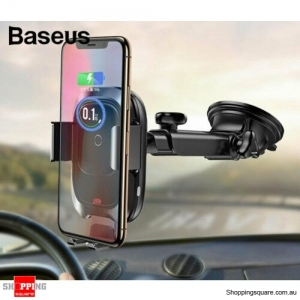 Baseus 10W Qi Wireless Car Charger Phone Holder for iPhone XS X 8 Samsung S10 Note9