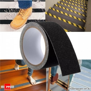 5cm x 3M Anti Slip Adhesive Stickers Floor Safety Non Skid Waterproof Heavy Duty Tape - Black