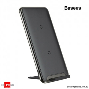 Baseus 10W QI Wireless Charger Docking For iPhone Xs X Galaxy S10 S9 Black Colour