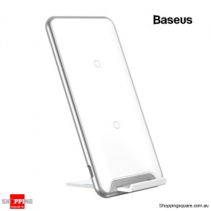 Baseus 10W QI Wireless Charger Docking For iPhone Xs X Galaxy S10 S9 White Colour