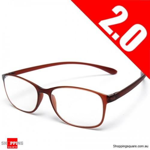 High Grade Unbreakable Resin TR90 Reading Glasses - 2.0