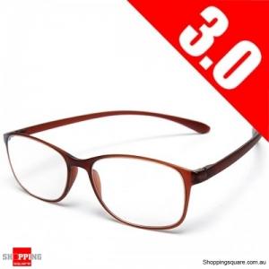 High Grade Unbreakable Resin TR90 Reading Glasses - 3.0
