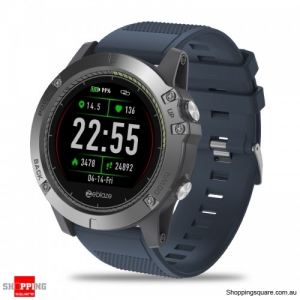 1.22' IPS Rugged Inside Out HR Monitor 3D UI All-day Activity Record Smart Watch - Blue