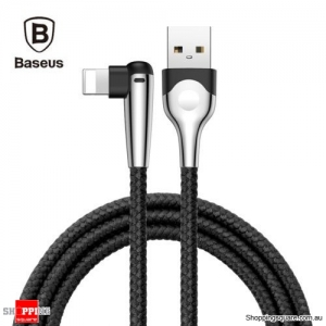 2M Baseus 90 Degree Right Angle USB Charger lightning Cable Apple iPhone iPod iPad Black Colour