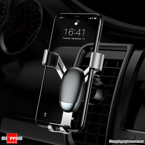 Baseus Universal Gravity Car Phone Holder Air Vent Mount for iPhone X XS Samsung Silver Colour