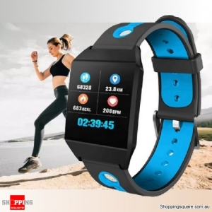 1.3'' IPS Color Screen Smart Watch Sports Smart Bracelet - Blue