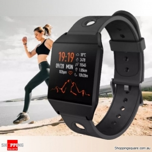 1.3'' IPS Color Screen Smart Watch Sports Smart Bracelet - Black