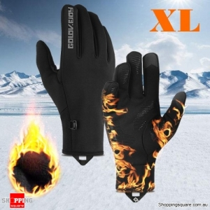 Waterproof Outdoor Sports Bike Motorcycle Winter Warm Finger Gloves Windproof Anti-slip Thermal Touchscreen Gloves - XL