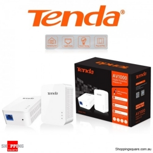 Tenda PH3 Powerline AV1000 Gigabit Powerline Adapter White 1000Mbps
