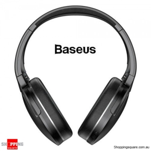 Baseus Bluetooth 5.0 Wireless Headphones Noise Cancelling Headset HiFi Bass Black Colour