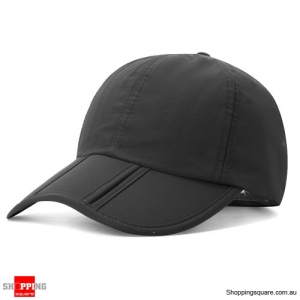 Foldable Quick-drying Vogue Baseball Cap Sunshade Casual Outdoors Hat - Black