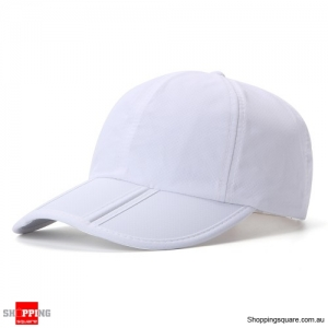 Foldable Quick-drying Vogue Baseball Cap Sunshade Casual Outdoors Hat - White