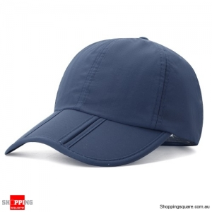 Foldable Quick-drying Vogue Baseball Cap Sunshade Casual Outdoors Hat - Dark Blue