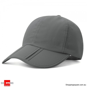 Foldable Quick-drying Vogue Baseball Cap Sunshade Casual Outdoors Hat - Gray