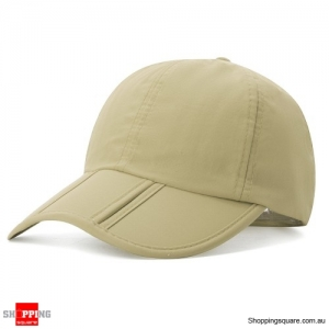 Foldable Quick-drying Vogue Baseball Cap Sunshade Casual Outdoors Hat - Beige