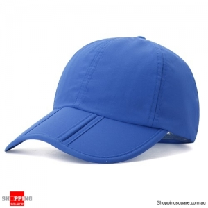 Foldable Quick-drying Vogue Baseball Cap Sunshade Casual Outdoors Cap - Blue