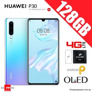 Huawei P30 128GB ELE-L29 4G LTE Dual Sim Unlocked Smart Phone Breathing Crystal