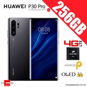Huawei P30 Pro 256GB VOG-L29 4G LTE Dual Sim Unlocked Smart Phone Black