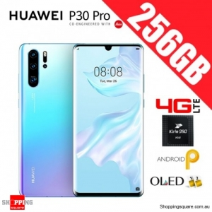 Huawei P30 Pro 256GB VOG-L29 4G LTE Dual Sim Unlocked Smart Phone Breathing Crystal
