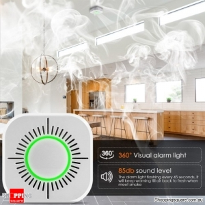 433MHz Wireless Smoke Detector Fire Security Alarm Protection Smart Sensor For Home Office