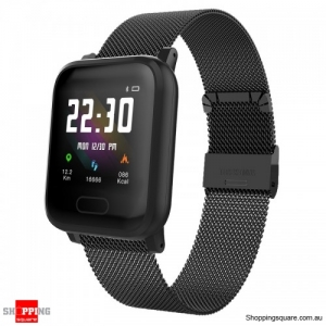 1.3'' IPS Color Touch Screen Waterproof Smart Watch Sport Bracelet - Black
