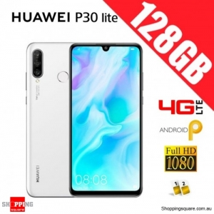Huawei P30 lite 128GB MAR-LX2 Dual Sim 4G LTE Unlocked Smart Phone Pearl White